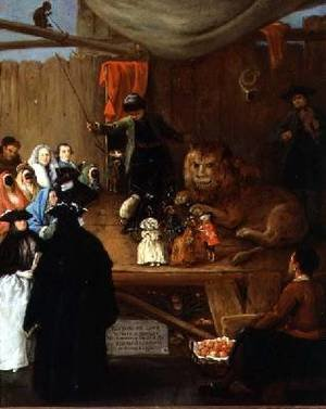 Reproduction oil paintings - Pietro Longhi - The Lions Cage as seen in Venice in the Carnival of 1765