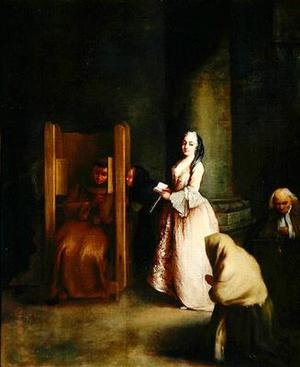 Reproduction oil paintings - Pietro Longhi - The Confession 1755