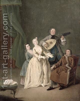 Pietro Longhi: The Family Concert 1750 - reproduction oil painting
