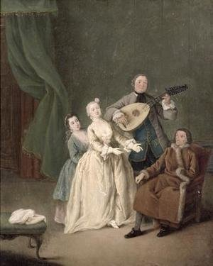 Reproduction oil paintings - Pietro Longhi - The Family Concert 1750