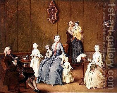 Pietro Longhi: Venetian Family - reproduction oil painting