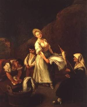 Reproduction oil paintings - Pietro Longhi - The Washerwomen