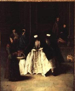 Reproduction oil paintings - Pietro Longhi - The Perfume Seller