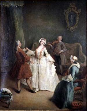 Pietro Longhi reproductions - The Dancing Lesson