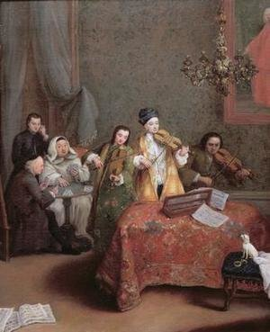 Reproduction oil paintings - Pietro Longhi - The Concert 1741