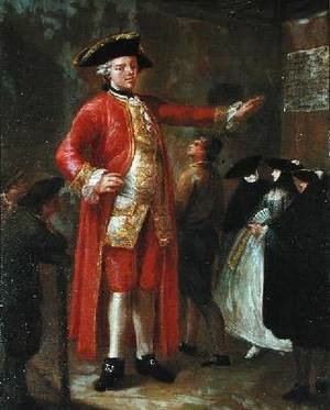 Reproduction oil paintings - Pietro Longhi - The Giant Magrat