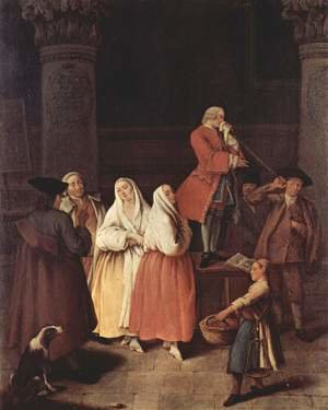 Reproduction oil paintings - Pietro Longhi - The Fortune Teller 1752