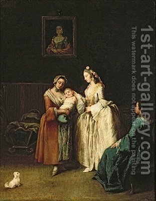 Pietro Longhi: The Wet-Nurse - reproduction oil painting