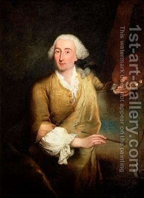 Pietro Longhi: Portrait of Francesco Guardi 1712-93 - reproduction oil painting