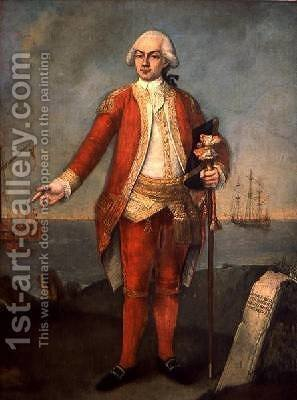 Portrait of Contarini 1787 by Alessandro Longhi - Reproduction Oil Painting
