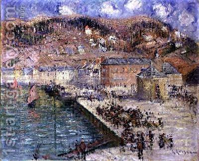The Fish Market 1925 by Gustave Loiseau - Reproduction Oil Painting