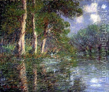 A Bend in the Eure 1919 by Gustave Loiseau - Reproduction Oil Painting