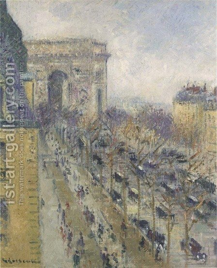 The Arc de Triomphe 1930 by Gustave Loiseau - Reproduction Oil Painting