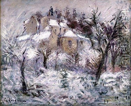 Houses at Pontoise 1930 by Gustave Loiseau - Reproduction Oil Painting