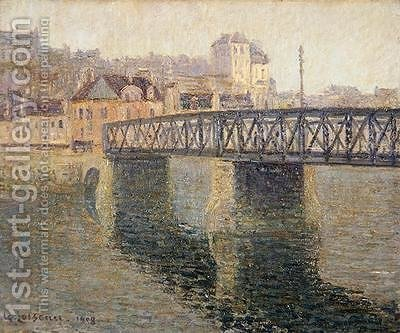 The Iron Bridge at St Ouen 1908 by Gustave Loiseau - Reproduction Oil Painting