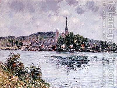 The River Seine at Rouen 1909 by Gustave Loiseau - Reproduction Oil Painting