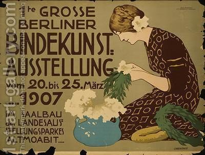German advertisement for a floristry exhibition in Berlin by Hans Lindenstaedt - Reproduction Oil Painting