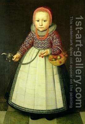 Portrait of a Young Girl by Adriaen van der Linde - Reproduction Oil Painting