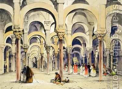 Mosque at Cordoba from Sketches of Spain by John Frederick Lewis - Reproduction Oil Painting