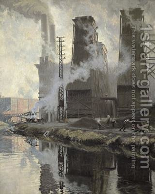 Power Station at Croix-Wasquehal by Hippolyte Lety - Reproduction Oil Painting