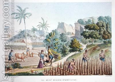 Farm workers Guam Philippines by (after) Leroy, Sebastien (Denis Sebastien) - Reproduction Oil Painting