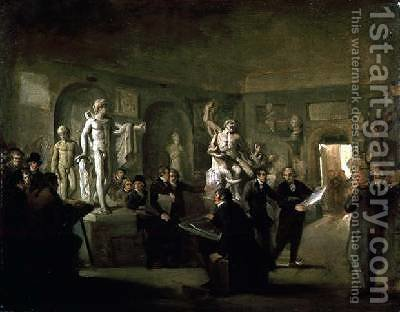The Sculpture Gallery of the Felix Meritis Society by Adriaan de Lelie - Reproduction Oil Painting