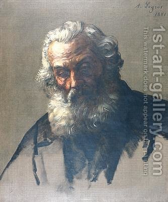 Head of an Old Man by Alphonse Legros - Reproduction Oil Painting