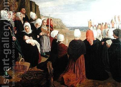 Blessing of the Sea by Alphonse Legros - Reproduction Oil Painting