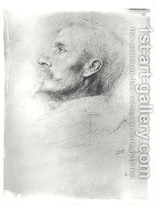 Portrait of Walter Crane 1845-1915 by Alphonse Legros - Reproduction Oil Painting