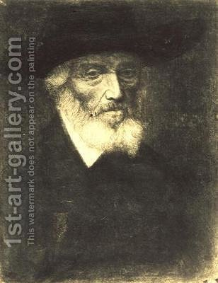 Portrait of Thomas Carlyle by Alphonse Legros - Reproduction Oil Painting