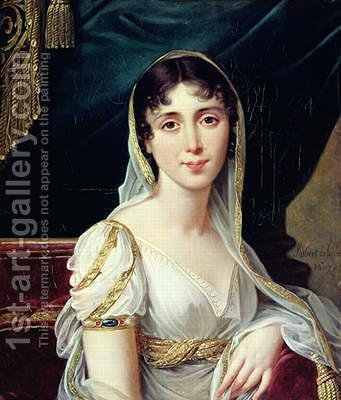 Robert-Jacques-Francois-Faust Lefevre: Desiree Clary 1781-1860 Queen of Sweden - reproduction oil painting