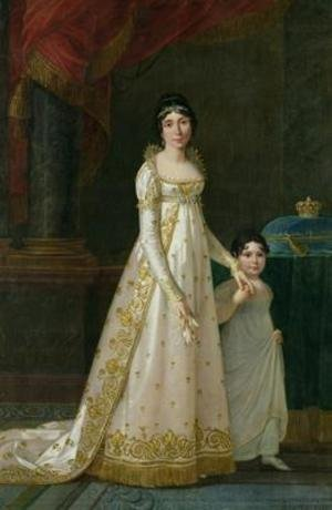 Reproduction oil paintings - Robert-Jacques-Francois-Faust Lefevre - Portrait of Marie-Julie Clary 1777-1845 Queen of Naples with her daughter Zenaide Bonaparte 1801-54