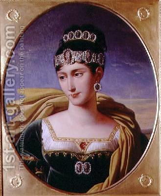 Portrait of Pauline Bonaparte 1780-1825 Princess Borghese by Robert-Jacques-Francois-Faust Lefevre - Reproduction Oil Painting