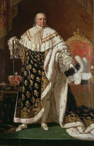 Reproduction oil paintings - Robert-Jacques-Francois-Faust Lefevre - Portrait of Louis XVIII 1755-1824 in coronation robes