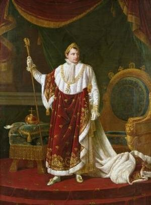 Reproduction oil paintings - Robert-Jacques-Francois-Faust Lefevre - Portrait of Napoleon 1769-1821 in his Coronation Robes