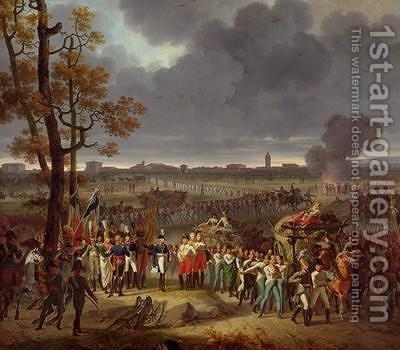 The Second Siege of Mantua on the 2nd February 1797 by Hippolyte Lecomte - Reproduction Oil Painting