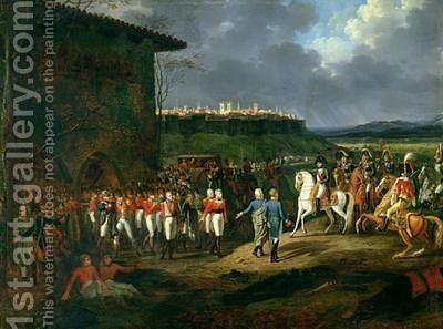 The English Prisoners at Astorga Being Presented to Napoleon Bonaparte 1769-1821 by Hippolyte Lecomte - Reproduction Oil Painting