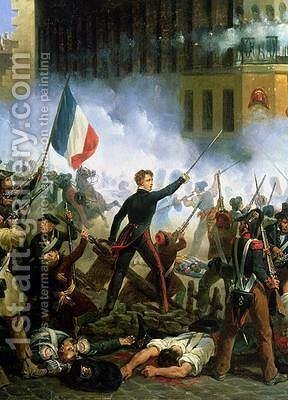Battle in the Rue de Rohan 2 by Hippolyte Lecomte - Reproduction Oil Painting