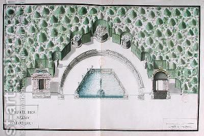 Design for the Baths of Apollo at Versailles by Andre Le Notre - Reproduction Oil Painting