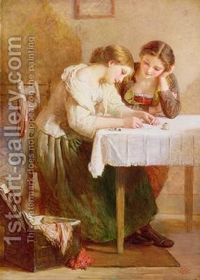 The Love Letter by Henry Le Jeune - Reproduction Oil Painting