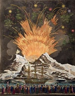 Famous paintings of Fireworks: Sacred Festival and Coronation of their Imperial Majesties 4