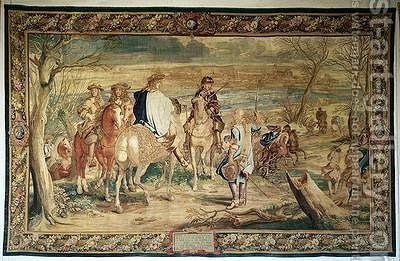 The Siege of Dole by (after) Le Brun, Charles - Reproduction Oil Painting