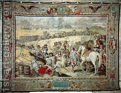 The Siege of Tournai by (after) Le Brun, Charles - Reproduction Oil Painting