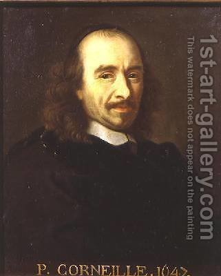 Pierre de Corneille 1606-94 by (after) Le Brun, Charles - Reproduction Oil Painting