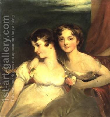 Fanny and Jane Hamond by (after) Lawrence, Sir Thomas - Reproduction Oil Painting