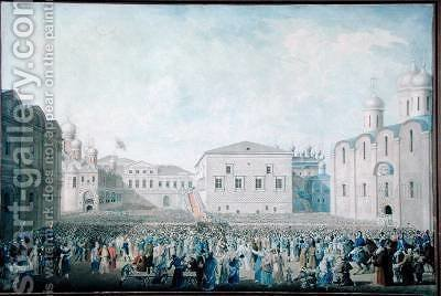 The Great Reception of Alexander I 1777-1825 in the Kremlin by I.A. Lavrov - Reproduction Oil Painting