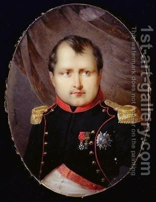 Portrait Miniature of Napoleon I 1769-1821 by Andre Leon (Mansion) Larue - Reproduction Oil Painting