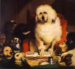 Famous paintings of Domestic Animals: Trial by Jury