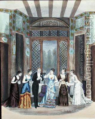 Scene from an operetta by A. Lamy - Reproduction Oil Painting