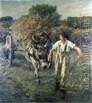 The Haywain by Henry Herbert La Thangue - Reproduction Oil Painting